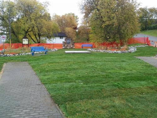 Nipigon Cenotaph Rain Garden - Civil Construction and Landscaping